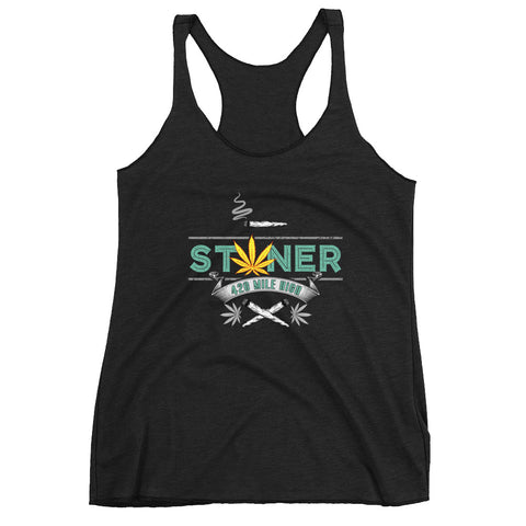 Women's 420 Mile High Stoner Racerback Tank Top - 420 Mile High