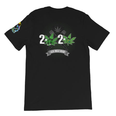2020 Weed Short-Sleeve Unisex Back Print T-Shirt - 420 Mile High