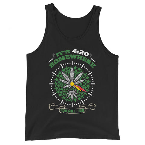 It's 4:20 Somewhere Weed Tank Top - 420 Mile High