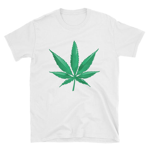 Marijuana Leaf Short-Sleeve Unisex White T-Shirt | 420 Mile High