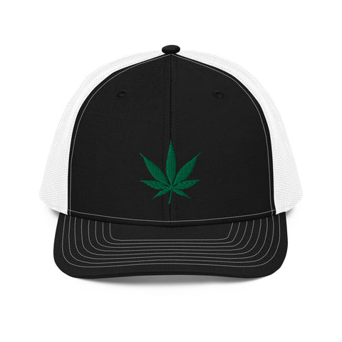 Marijuana Pot Leaf Trucker Hat | 420 Mile High