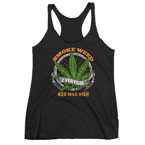 Women's Smoke Weed Everyday Racerback Tank Top - 420 Mile High