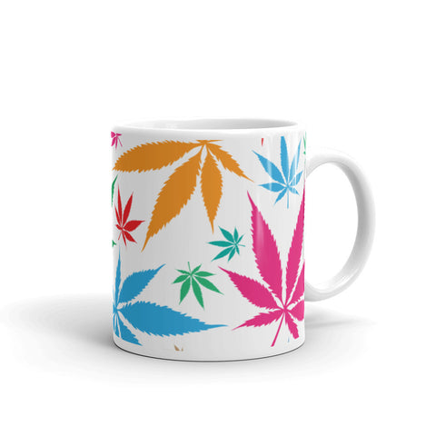 Multi-Color Weed Coffee Mug - 420 Mile High