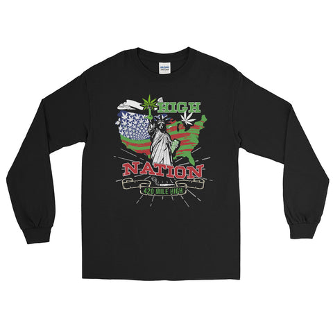 High Nation Weed Long Sleeve T-Shirt - 420 Mile High
