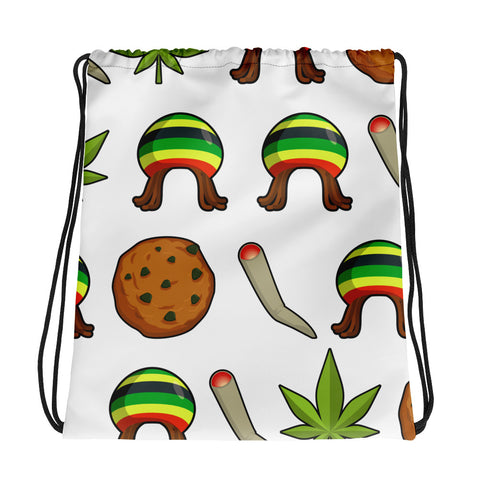 Rasta Life Weed Drawstring Bag - 420 Mile High