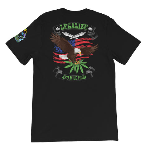 Legalize Marijuana Weed Short-Sleeve Unisex Back Print T-Shirt