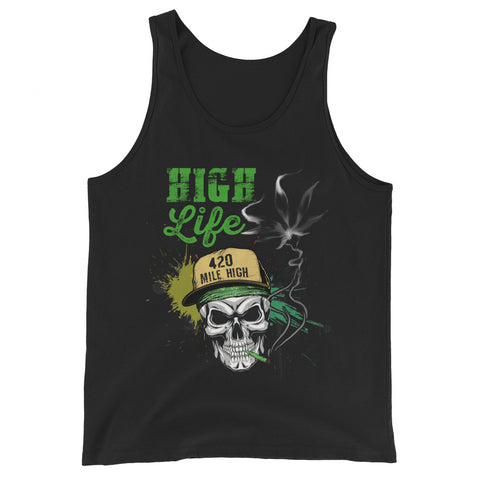High Life Weed Tank Top - 420 Mile High
