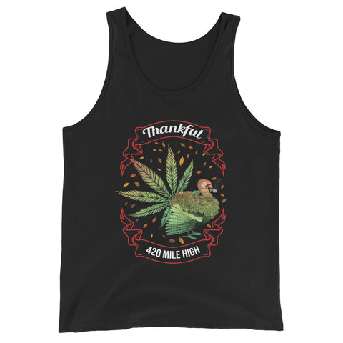 Thankful For Weed Tank Top - 420 Mile High