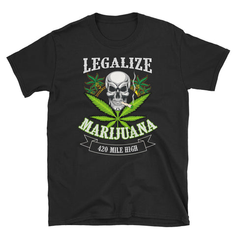 Legalize Marijuana Short-Sleeve Unisex T-Shirt - 420 Mile High