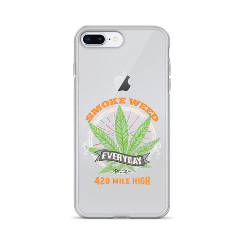 Smoke Weed Everyday iPhone Case - 420 Mile High