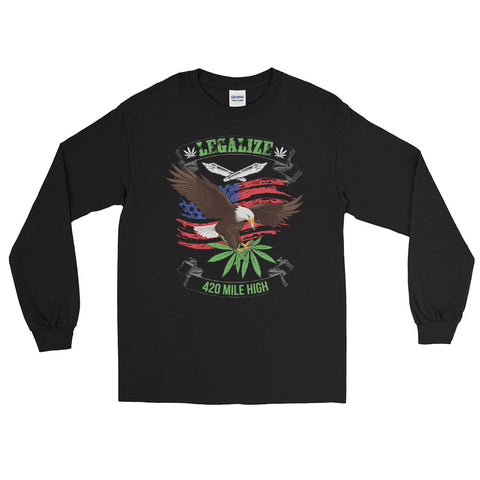 Legalize Marijuana Long Sleeve T-Shirt - 420 Mile High