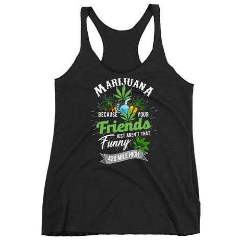 Women's Marijuana Racerback Tank Top - 420 Mile High