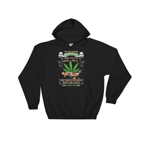 Skateboard Weed Pullover Sweatshirt Hoodie - 420 Mile High