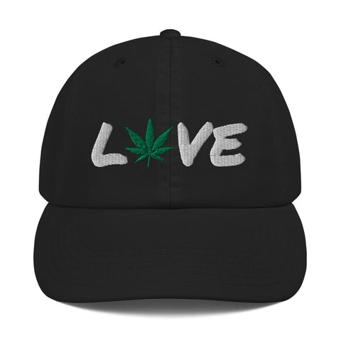 Love 420 Weed Leaf Champion Dad Hat - 420 Mile High