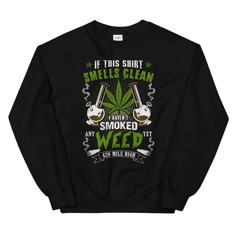 If This Shirt Smells Clean Sweatshirt Black Color | 420 Mile High