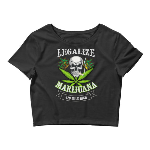 Women's Legalize Marijuana Crop Top - 420 Mile High