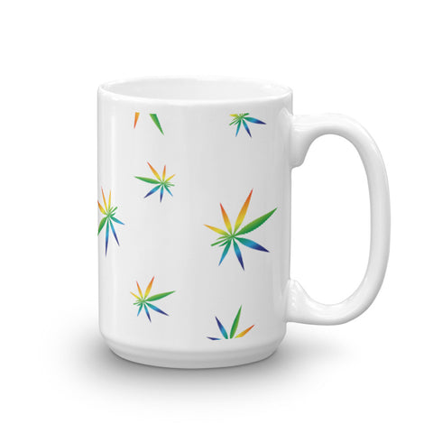 Multi-Color Weed Pattern Coffee Mug - 420 Mile High