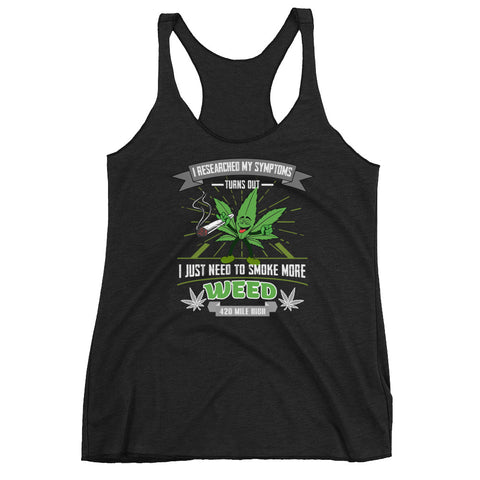 Women's Smoke More Weed Racerback Tank Top - 420 Mile High