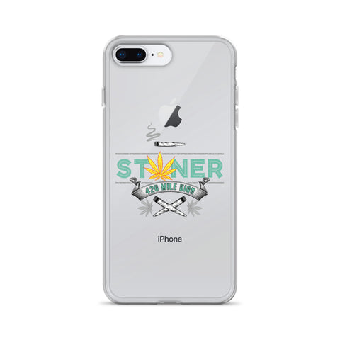 Stoner Weed Pot Leaf iPhone Case - 420 Mile High