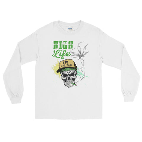High Life Weed Long Sleeve T-Shirt - 420 Mile High