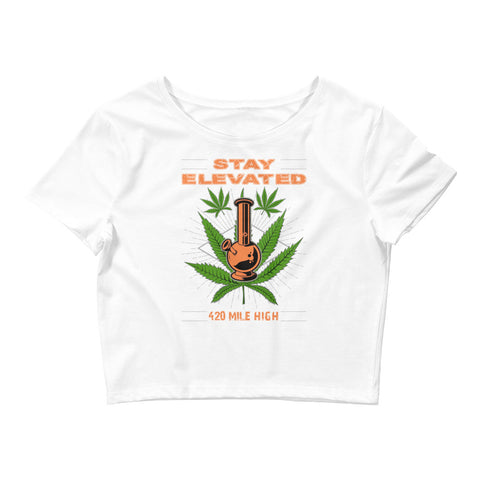 Women's Stay Elevated Crop Top - 420 Mile High