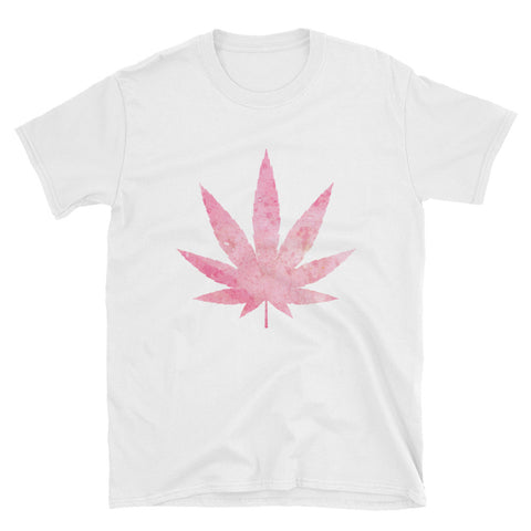 Pink Weed Short-Sleeve Unisex White T-Shirt | 420 Mile High
