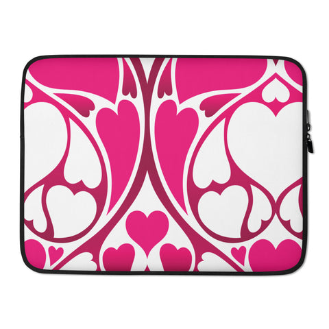 Heart Pattern Laptop Protective Sleeve - 420 Mile High
