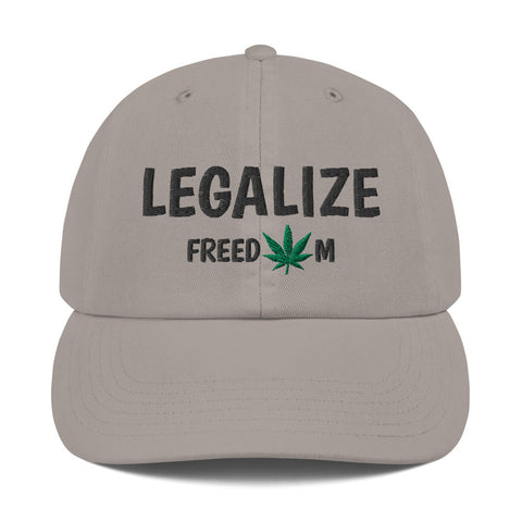 Legalize Freedom Weed Leaf Champion Dad Hat - 420 Mile High