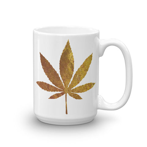 Golden Brown Weed Mug - 420 Mile High