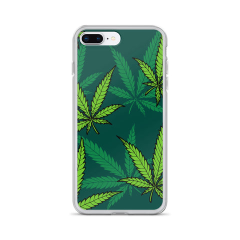 Green Weed iPhone Case - 420 Mile High