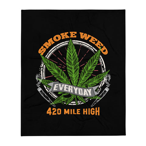 Smoke Weed Everyday Throw Blanket
