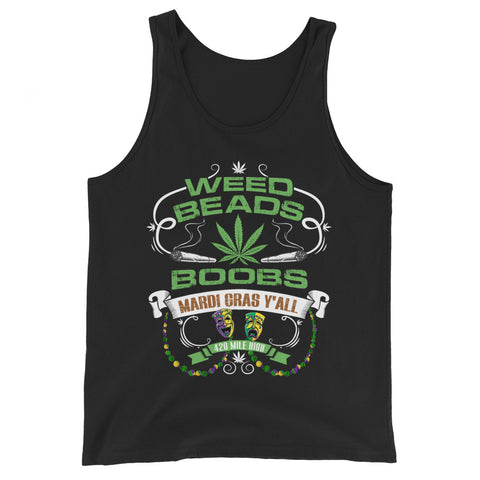 Weed Beads Boobs Tank Top - 420 Mile High
