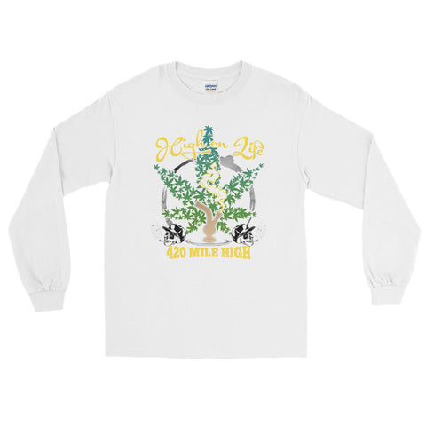 High On Life Weed Long Sleeve T-Shirt - 420 Mile High