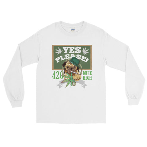 Yes Please Weed Long Sleeve T-Shirt - 420 Mile High