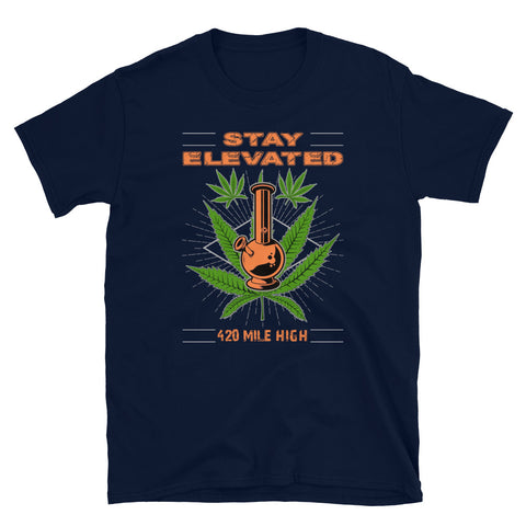 Stay Elevated Navy T-Shirt | 420 Mile High