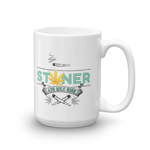 420 Mile High Stoner Weed Coffee Mug - 420 Mile High