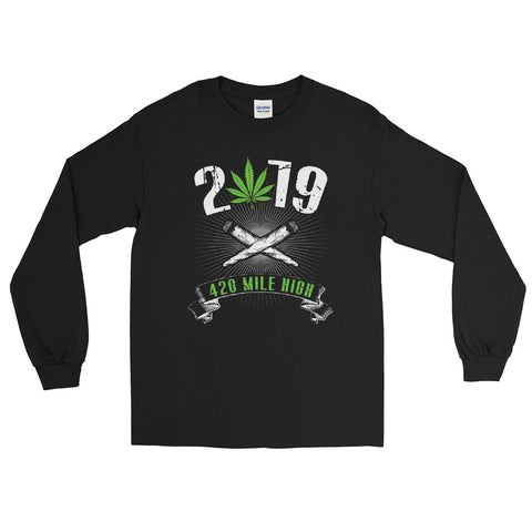 2019 Weed Long Sleeve T-Shirt - 420 Mile High