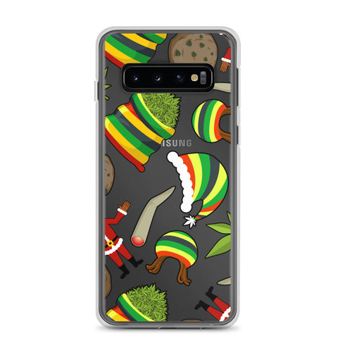 Christmas Party Weed Samsung Cases