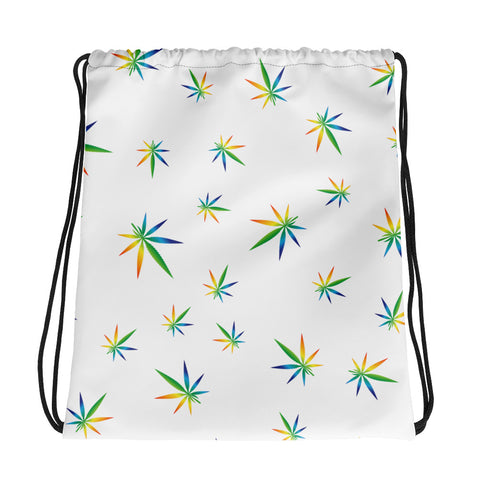 Multi-Color Weed Pattern Drawstring Bag - 420 Mile High