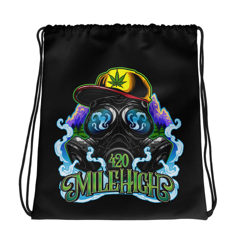 420 Mile High Drawstring Bag