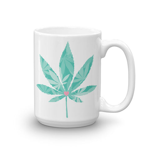 Heart Weed Mug - 420 Mile High
