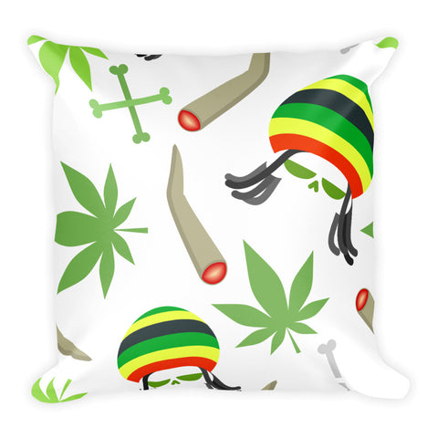 420 Weed Smoking Basic Pillow - 420 Mile High