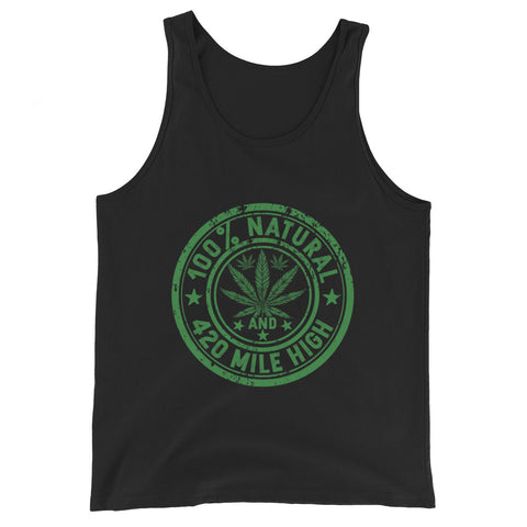 100% Natural Weed Tank Top - 420 Mile High