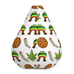 Rasta Life Weed Bean Bag Chair Cover - 420 Mile High