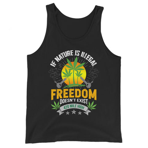 If Nature Is Illegal Weed Tank Top - 420 Mile High
