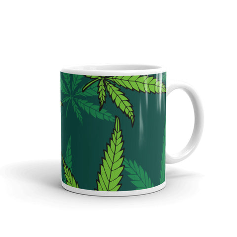 Green Weed Coffee Mug - 420 Mile High