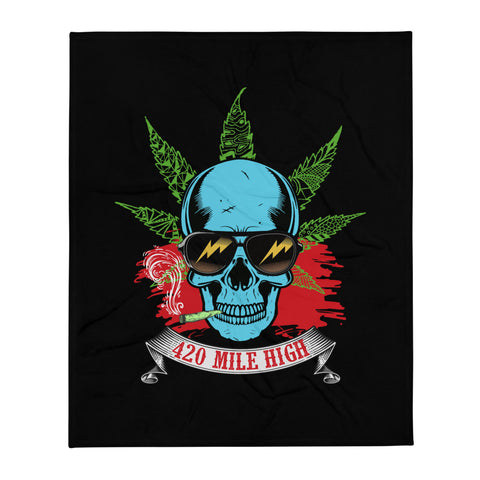 Smoking Weed Throw Blanket