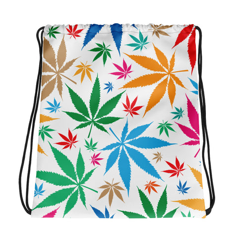 Multi-Color Weed Drawstring Bag - 420 Mile High