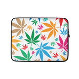 Multi-Color Weed Laptop Protective Sleeve - 420 Mile High