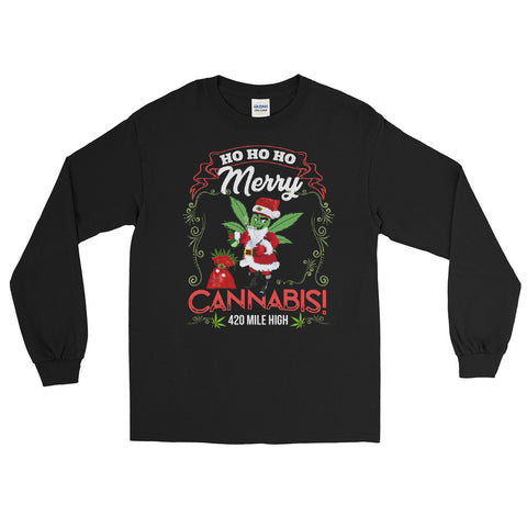 Merry Cannabis Long Sleeve T-Shirt - 420 Mile High